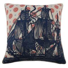 #Ship #Pillow by #ThomasPaul #Home #Decor #Interior #Design #VivirBonito Visíta nuestra página www.juliana.mx