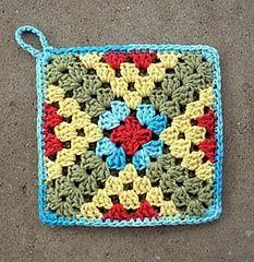Transcendent Crochet a Solid Granny Square Ideas. Inconceivable Crochet a Solid Granny Square Ideas. Crochet Potholder Patterns, Crochet Motifs, Crochet Square Patterns, Crochet Blocks, Crochet Dishcloths, Granny Square Crochet Pattern, Knitting Patterns, Crochet Granny, Crochet Squares