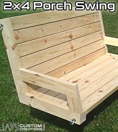 How To Build A 2�4 Porch Swing - Jays Custom Creations I want to make one for the front porch and I would like to combine this with another project I found for the park...