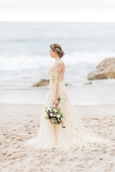 510d82f776a2 Gold Gilded Goddess Wedding Inspiration. Gold GildingStunning DressesFloral  ...