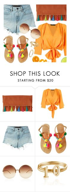 """""""Summer Colors"""" by mimicdesign ❤ liked on Polyvore featuring Andrea Marques, Alexander Wang, Linda Farrow, summeroutfit, fringebag, pompom, colorfuloutfit and tasselleatherclutch"""