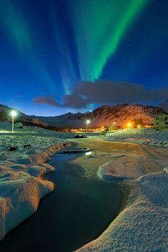 Aurora near Eggum, Norway. Aurora is on my bucket list. Beautiful Sky, Beautiful World, Beautiful Places, Beautiful Norway, Amazing Places, Pretty Sky, Beautiful Wallpaper, Naturally Beautiful, Amazing Things