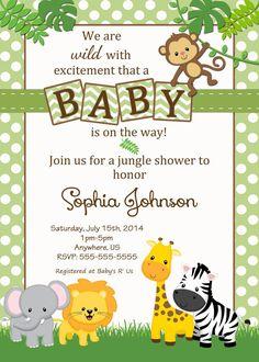 Resultado de imagen para baby shower safari