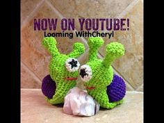 Rainbow Loom SNAIL 3d - Looming WithCheryl. Loomigurumi Tutorial is Now on YouTube! Charms / figures / gomitas / gomas. Crochet hook only. Please Subscribe ❤️❤ m.youtube.com/user/LoomingWithCheryl