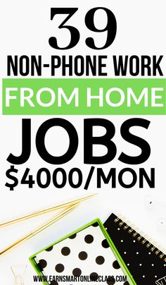 If you want work from home jobs that dont need a phone, you are in luck! Get this list of 70 non-phone work from home jobs. Join and work at home today! Work From Home Careers, Online Jobs From Home, Legitimate Work From Home, Work From Home Opportunities, Work From Home Moms, Online Work, Business Opportunities, Earn Money From Home, Way To Make Money