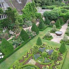 Formal garden, yet still has design elements that can be useful in any garden.