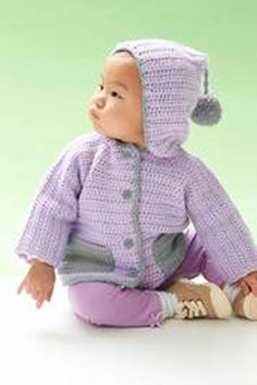 Hooded Baby Cardigan ~ **Free Pattern ~ There are directions for babies up to 18 months old**