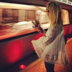 Lace Free People. Riding on the metro #FreePeople