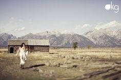 The Tetons make an incredible backdrop for wedding portraits. Katy Gray photography - www.katygray.com