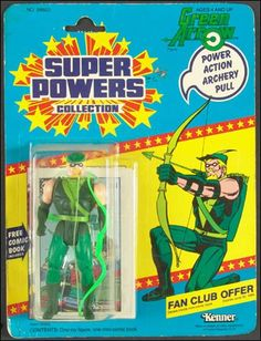 super powers green arrow | Super Powers Collection Action Figures Green Arrow by Kenner