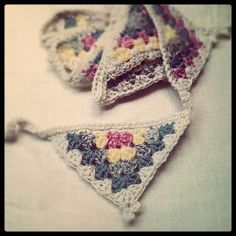 Smitten with it all...: Crochet Bunting Tutorial