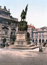Former Radetzky Memorial in Malostranské náměstí, Prague, removed in 1919, now on display in collections of National Museum.
