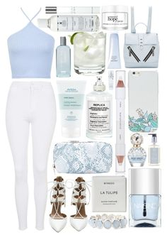 """try again later"" by sophiielin ❤ liked on Polyvore featuring Kiehl's, Aquazzura, Aveda, Topshop, Miss Selfridge, Maison Margiela, Fashion Fair, LeSportsac, shu uemura and Byredo"