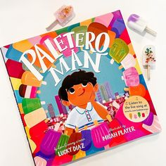 Full of musicality, generosity, kindness, and ice pops, this book is sure to satisfy fans of Thank You, Omu! and Carmela Full of Wishes. A vibrant picture book celebrating the strength of community and the tastes of summer from Latin Grammy-winning musician Lucky Diaz and celebrated artist Micah Player. 📸 @mama.and.og Paletero Man, National Book Store, Live Songs, Spanish Words, Ice Pops, Picture Books, Wedding Men, Summer Days, The Book