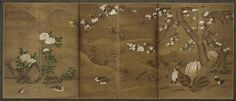 Japanese Art | Birds and civet cats in a landscape; one of a pair with F1901.179 | F1901.178 Muromachi or Momoyama