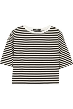 Tibi | Ren cropped striped cotton-blend jersey top  | NET-A-PORTER.COM