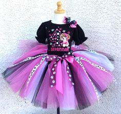 Paw Patrol Skye Puppy Girls Birthday Tutu Outfit