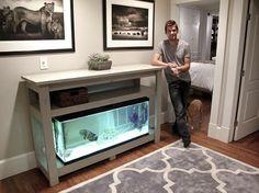 diy aquarium stand home pinte
