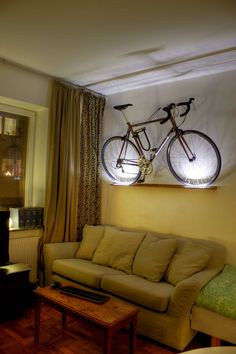 Make your bike a work of art, and add drama with up-lighting.