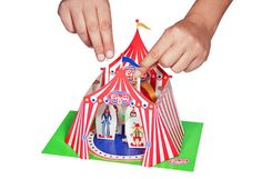 Circus Paper Theater  PRINTABLE PDF DIY Craft Kit by pukaca, $6.00 - an idea - a mini puppet theater with a finger puppet carnival character