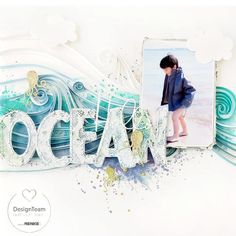 Ocean use this for east coast sea glass hunt Beach Scrapbook Layouts, Cruise Scrapbook, Wedding Scrapbook, Scrapbook Designs, Scrapbook Sketches, Travel Scrapbook, Scrapbook Paper Crafts, Scrapbooking Layouts, Scrapbook Pages