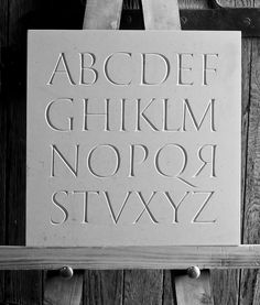 Classical alphabet using only those letters that excited during the time of the Caesars. Painted prior to cutting. Calligraphy Words, Typography Letters, Typography Poster, Roman Letters, Capital Alphabet, Pebble Stone, Modern Fonts, Stone Sculpture, Lettering Design