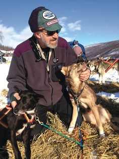 Pulling Together. Dr. Jerry Vanek, a musher and an international sled dog veterinarian, and friends. #AnimalLover