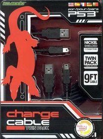 KMD PS3 Charge Cable Twin Pack Komodo by KMD. $8.03. Never let a low battery slow down your game! Komodo's 9-foot USB Charge Cable works with any PS3TM-compliant controller, allowing you to plug and play so you can stay in the action while you recharge. Professional-grade shielding prevents against interference, and nickel-plated connectors resist corrosion while providing lightning-fast conductivity. And if that weren't enough, you get TWO for the price of one!. Save 20%!