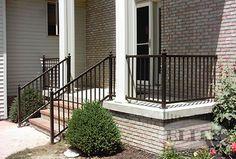 Elite aluminum railing porch