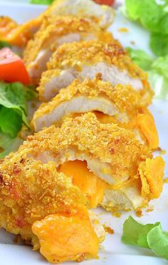 Crispy Baked Parmesan Chicken recipe is QUICK and EASY DINNER for your family. Make garlic parmesan crusted chicken breasts with cheddar cheese in 30 mins. Healthy Dessert Recipes, Lunch Recipes, Cooking Recipes, Meat Recipes, Cooking Time, Breakfast Recipes, Dinner Recipes, Chicken Parmesan Recipes, Garlic Parmesan