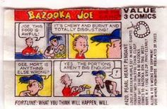 Bazooka Joe comics with points!  I collected these :)