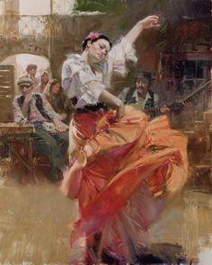 Mes Images: Flamenco en rouge Tableau !