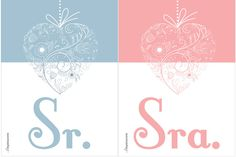 Plaquinhas para as cadeiras dos noivos : 4 modelos para baixar | Blog do Casamento - O blog da noiva criativa! | Downloads, Papelaria