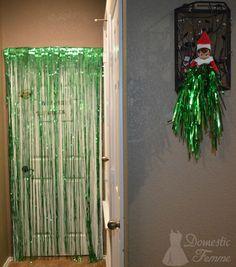 Elf decorated your door - Elf On The Shelf 2015 Calendar (25+ NEW Ideas!)