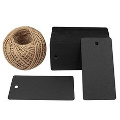 Black Gift Tags, G2PLUS 100 PCS Paper Gift Tag with 100 Feet Jute Twine String, Rectangle Christmas Gift Tags 3.5'' x 1.7'' (Black) #Black #Gift #Tags, #GPLUS #Paper #with #Feet #Jute #Twine #String, #Rectangle #Christmas #Tags #.'' #(Black)
