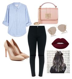 """""""_😊😊"""" by itzel-sanchez-i on Polyvore featuring Velvet, Alexander McQueen and Christian Dior"""