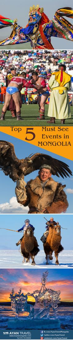 The Top 5 Must See Events in Mongolia. http://www.toursmongolia.com/mongolia_travel_news/the-top-5-must-see-events-in-mongolia #Mongolia #AyanTravel #toursmongolia