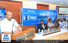 Musthafa TV (Chief guest at Homz Komforts Launch) Addressing with his Welcome Speech at the Event