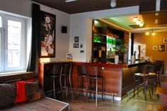 9 - Hostel Blues, Bratislava, Slovakia Bratislava Slovakia, Coffee Bars, Hostel, Liquor Cabinet, Blues, Spaces, Storage, Furniture, Home Decor