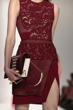 J. Mendel Spring 2014 Ready-to-Wear... the detailing on this skirt is perfect.