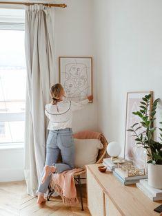 Beautiful Bedroom Artwork You Have Been looking For - Cornelius Adeniyi Bedroom Artwork, Bedroom Decor, Bedroom Art Above Bed, Gallery Wall Bedroom, Artwork For Home, My New Room, My Room, Piece A Vivre, Beautiful Bedrooms