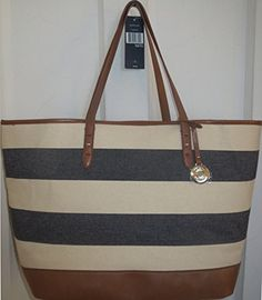 I just bought this to day. Thanks Marshall's!  Tommy Hilfiger Handbag Stripe Tote Bag Canvas Navy XXXL