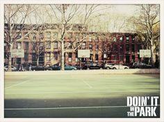 Brooklyn Nyc, Playground, Basketball, Facebook, Children Playground, Netball, Outdoor Playground