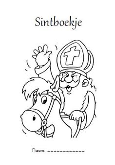 Sinterklaas coloring pages Colouring Pages, Coloring Pages For Kids, Christmas Projects, Kids Christmas, Christmas In Holland, Saint Nicholas, Color Activities, Digital Stamps, Diy For Kids