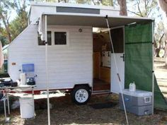 """Big Al's Homemade """"ALVAN"""" camper caravan built from scratch just started out with a trailer bed"""