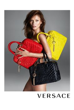 Kate Moss Wears Nothing But Handbags For Versace