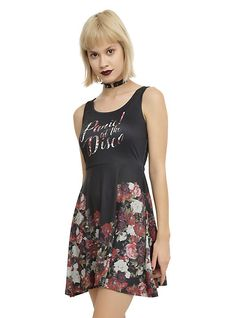 Panic! At The Disco Floral Dress, BLACK
