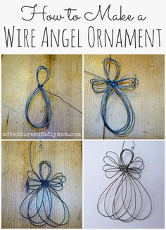 How to Make a Wire Angel Ornament this would be cool if rusted and could also so make some rusted icicles by twisting wire around a pencil and stretching to length you desire
