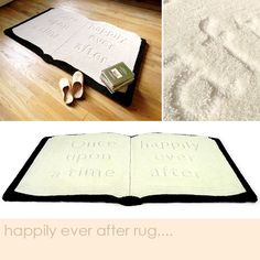 Rug Design: Pop Up Book Rug - Snuggly Rug for Autumn Reading #cosyautumn