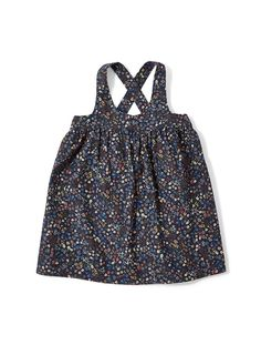 agatha pinafore in liberty floral corduroy